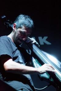 RESIDUAL - Mauro Mourelos (trp + electrónica) - Nicolás Ojeda cb + efx - Motz batería - Monk Club - Foto Andrea Romio